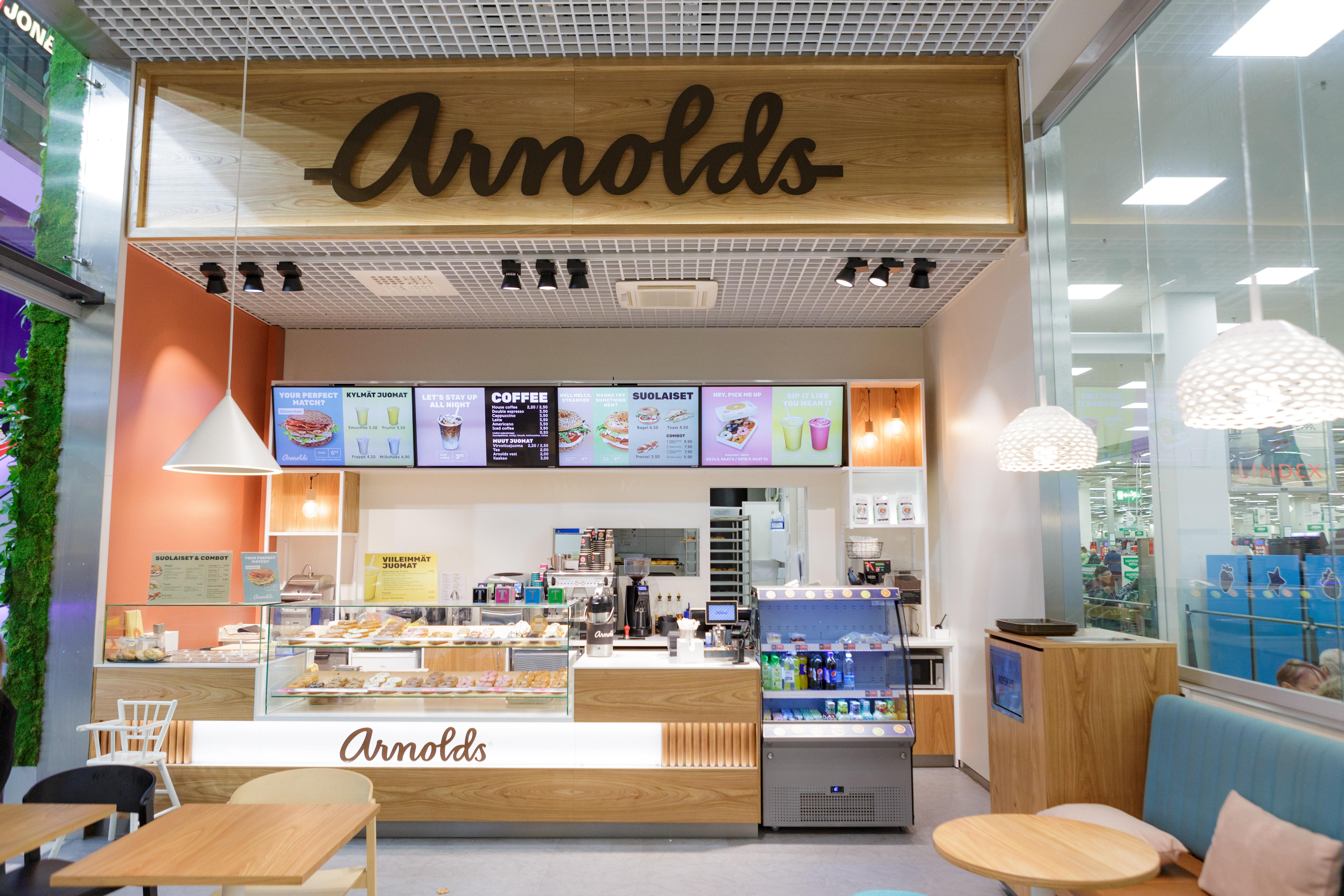 Arnoldsin näyttävät Digital Signage -ratkaisut parantavat julkisivua ja tekevät myymälästä houkuttelevan näköisen.